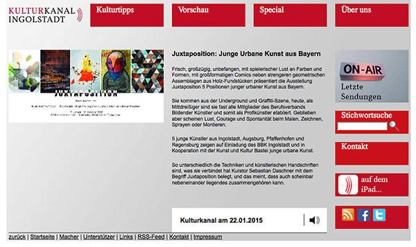 Kulturkanal Ingolstadt. Beitrag.